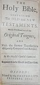 Click Here -KJV 1713 Title Page - Ask for the old paths, where is the good way!
