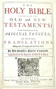Click Here -KJV 1722 Title Page - Ask for the old paths, where is the good way!