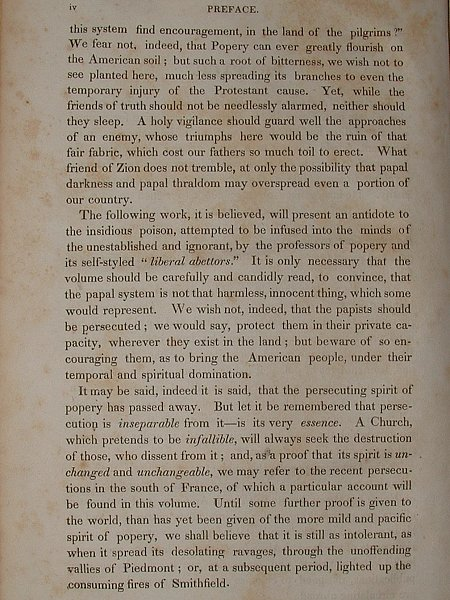 Click Here - Preface to a 1830 Edition of Foxe's Book Of Martyrs.